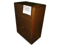 Picture of CLEARANCE: ECL Lat File Cabinet  4 Drawer Walnut