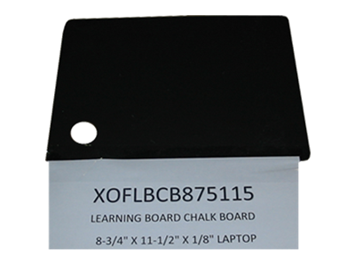 """Picture of CLEARANCE: Learning Board Chalk Board 8-3/4"""" X 11-1/2"""" X 1/8"""" Laptop"""