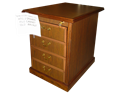 Picture of CLEARANCE: HTG File Cabinet 2 Drawer Walnut