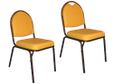 Picture of Upholstered Round Back Stack Chair