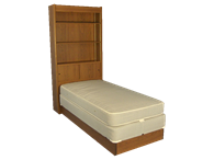 Picture of Platform Bed With Bookcase Headboard
