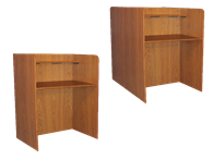 Picture of Study Carrel With Wood Base