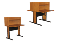 Picture of Study Carrel With Metal Base