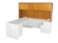 Picture of Eclipse L Shaped Workstation Hutch