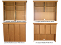 """Picture of CLEARANCE: HTG Dir Hutch 72"""" Bookcase with Doors Mahogany"""