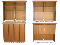 Picture of Heritage Director's Credenza Hutches