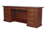 Picture of Heritage Director's Kneehole Credenza