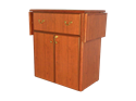 Picture of CLEARANCE: Heritage Hospitality Cart Drop Leaf, Mahogony75