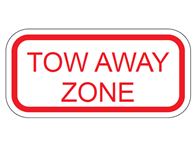 Picture of Tow Away Zone-Text
