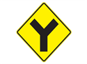 Picture of Y Intersection Ahead