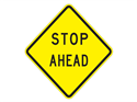 Picture of Stop Ahead-Text