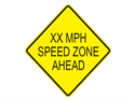 Picture of XX MPH Speed Zone Ahead