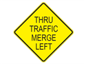 Picture of Thru Traffic Merge Left-Text