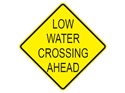 Picture of Low Water Crossing Ahead-Text