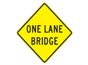 Picture of One Lane Bridge-Text