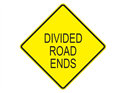 Picture of Divided Road Ends-Text