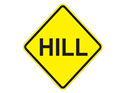 Picture of Hill Ahead-Text