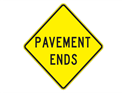 Picture of Pavement Ends -Text