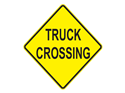 Picture of Truck Crossing-Text