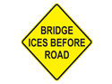 Picture of Bridge Ices Before Road-Text