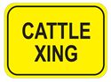 Picture of Cattle Xing-Text