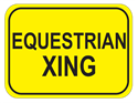 Picture of Equestrian Xing-Text