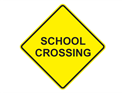 Picture of School Crossing-Text