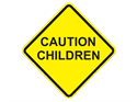 Picture of Caution Children-Text