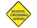 Picture of School Crossing Ahead-Text
