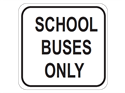 Picture of School Buses Only