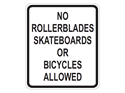 Picture of No Rollerblades Skateboards Or Bicycles Allowed