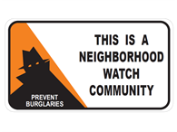 Picture of This Is A Neighborhood Watch Community w/Shadowman