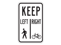 Picture of Pedestrians Keep Left/ Bicycles Keep Right