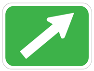 Picture of Diagonal Up Arrow
