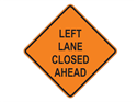Picture of Left Lane Closed Ahead