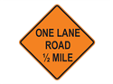 Picture of One Lane Road 1/2 Mile