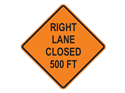 Picture of Right Lane Closed 500 FT