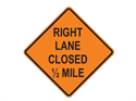 Picture of Right Lane Closed 1/2 Mile