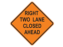 Picture of Right Two Lane Closed Ahead