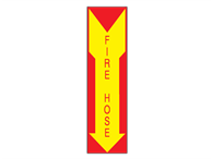 Picture of Fire Hose Arrow Down