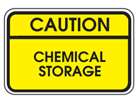 Picture of Caution Chemical Storage