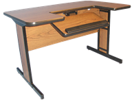 """Picture of Medium Computer Table 48"""" Length"""