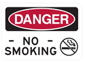 Picture of DANGER NO SMOKING W/CIGARETTE CROSSOUT IMAGE