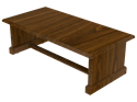 Picture of CLEARANCE: Heritage Coffee Table 48W x 16H x 24D, Mahogany