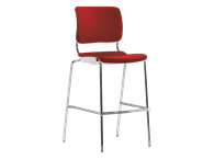 Picture of Sitka Armless Cafe Stool With Upholstered Seat And Back