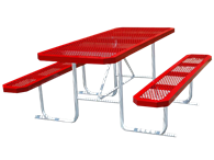 Picture of Boardwalk Metal Rectangle Picnic Table