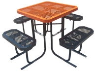 Picture of Boardwalk Metal Square Picnic Table