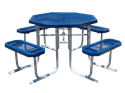 Picture of Metal Octagon Picnic Table