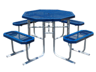 Picture of Boardwalk Metal Octagon Picnic Table