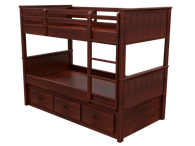 Picture of Twin Bunk Bed W/Storage